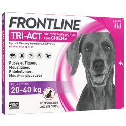 Frontline tri-act chiens 20 à 40 kg 3 pipettes