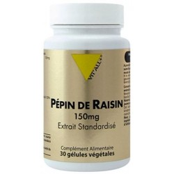VIT ALL+ PEPINS DE RAISIN EXT STD 150MG GELU /30