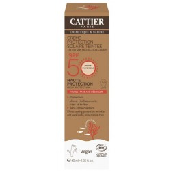CATTIER CR PROTECT TEINT SPF 50 VIS-DECOLLETE 40ML