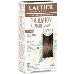 CATTIER COLORAT CAPILL N°4.0 CHATAIN 120ML