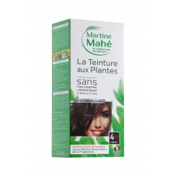 MARTINE MAHE TEINTURE AUX PLANTES 3 APPLICATIONS 125ML N4 CHATAIN