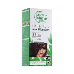 MARTINE MAHE TEINTURE AUX PLANTES 3 APPLICATIONS 125ML N4 BIS CHATAIN ROUX