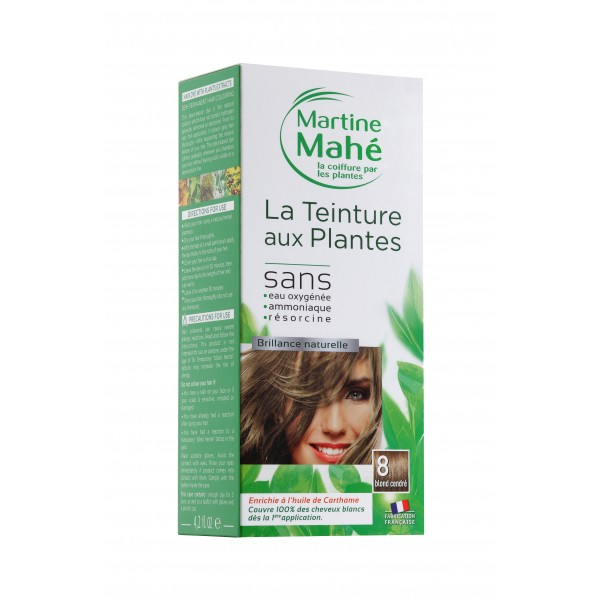 MARTINE MAHE TEINTURE AUX PLANTES 3 APPLICATIONS 125ML N8 BLOND CENDRE