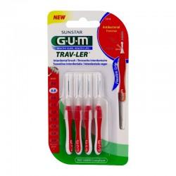 Gum trav-ler 4 brossettes interdentaires 0.8mm