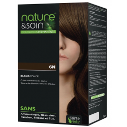 Santé verte nature & soin coloration permanente blond foncé 6n 129ml