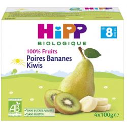 HIPP FRUITS POIRE BANANE KIWI 4X100G