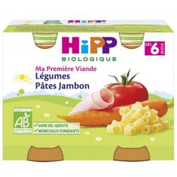 HIPP JAMBON LEGUME PATES DES 6M 2X190GR