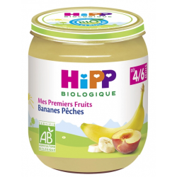 HIPP COMPOTE BANANE PECHE 4 A 6M 125GR