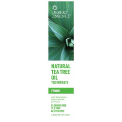 DESERT ESSENCE DENTIFRICE TEA TREE FENOUIL 176G