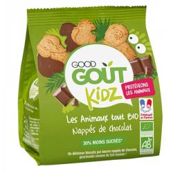 GOOD GOUT BISCUIT BIO ANIMAUX CHOCOLAT DES 3 ANS 120G