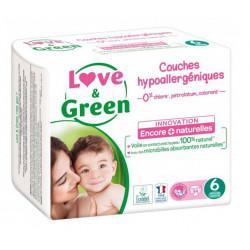 LOVE&GREEN 34 COUCHES HYPOALLERGEN TAILLE 6 + DE 15KG