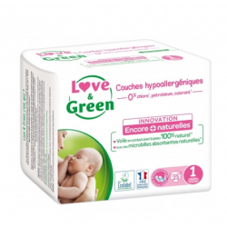 LOVE&GREEN 23 COUCHES HYPOALLERGENIQUES TAILLE 1-2 A 5KG