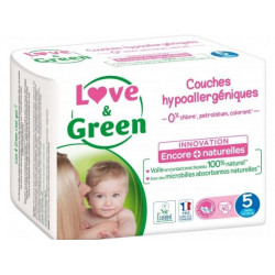 LOVE&GREEN 40 COUCHES HYPOALLERGEN TAILLE 5 11 A 25KG
