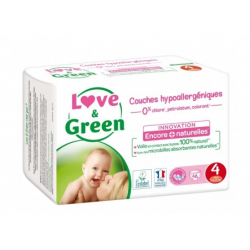 LOVE&GREEN 46 COUCHES HYPOALLERGENIQUES TAILLE 4 MAXI 7 A 14KG