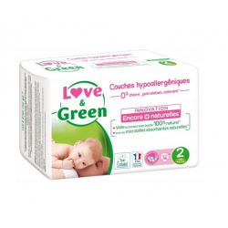 LOVE&GREEN 36 COUCHES HYPOALLERGENIQUES TAILLE 2 ET 3 A 6KG