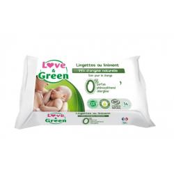 LOVE&GREEN TOILETTE BEBE 56 LINGETTES LINIMENT SPECIAL CHANGE