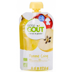 GOOD GOUT PUREE FRUITS POMME COING 4M 120G