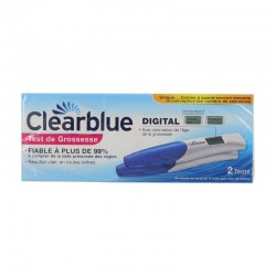 Clearblue lot de 2 tests de grossesse digital