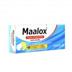 Maalox maux d'estomac sans sucre 40 comprimés à croquer au sorbitol et au maltitol