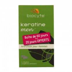 Biocyte kératine homme cheveux vitalisés 3 x 40 gélules