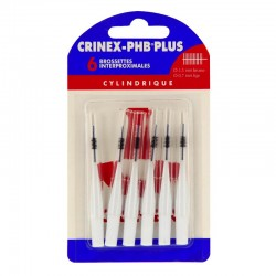 Crinex phb plus brossettes interdentaires cylindriques x6