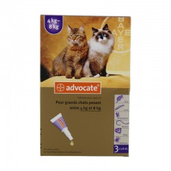 Bayer advocate spot-on pour gros chats (4-8kg) x3