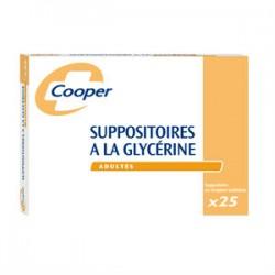 Cooper 25 suppositoires à la glycérine adultes