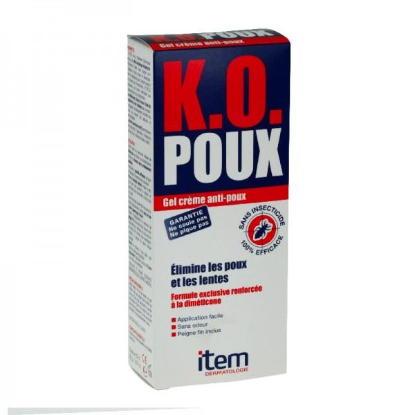 Item dermatologie ko poux gel crème anti poux 100 ml