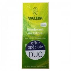 Weleda déodorant citrus lot de 2 x 100ml