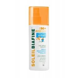 Soleilbiafine lait spray solaire enfants spf50+ triple résistance 200 ml
