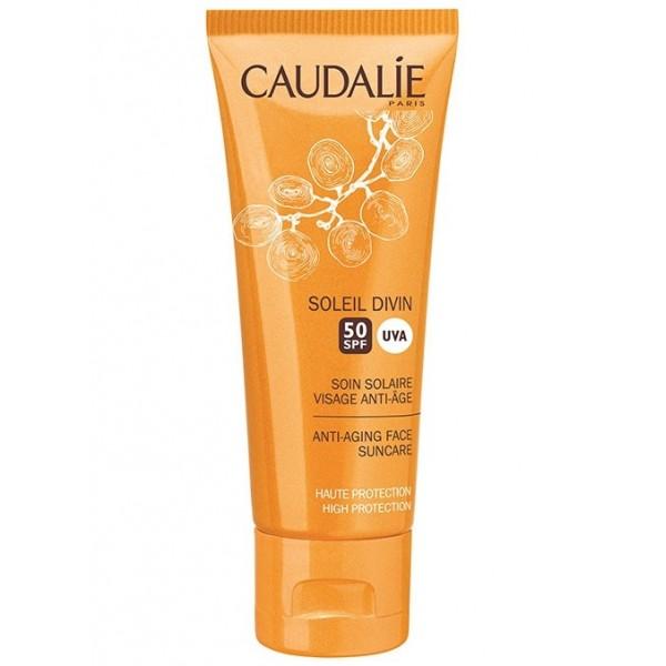 Caudalie soleil divin soin solaire visage anti-age ip50 40 ml