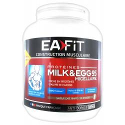 Eafit construction musculaire saveur café frappé milk & egg 95 micellaire 750 g