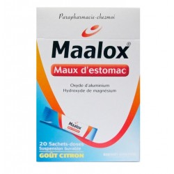 Maalox maux d'estomac suspension buvable 20 sachets-doses au citron
