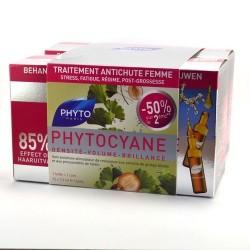 Phyto phytocyane soin antichute stimulateur de croissance femme lot de 2 x 12 ampoules
