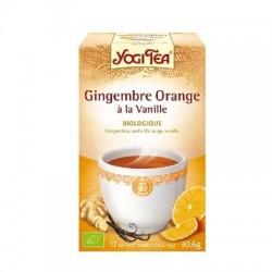Yogi tea gingembre orange à la vanille 17 sachets