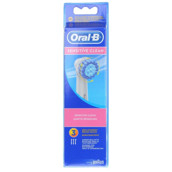 oral b sensitive clean 3 brossettes pharmacie cap3000. Black Bedroom Furniture Sets. Home Design Ideas