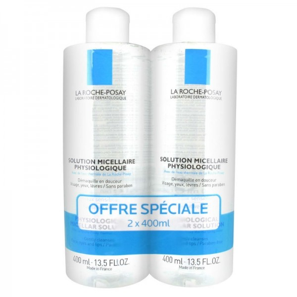 La roche posay solution micellaire 2 x 400 ml