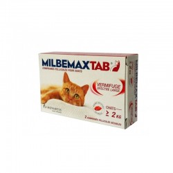 Milbemax tab chats 2 kg et plus 2 comprimés