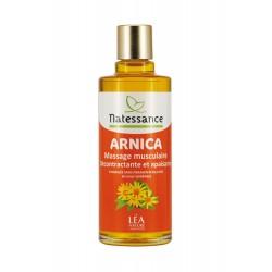 Natessance huile arnica massage musculaire décontractante et apaisante 100ml