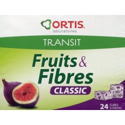 Ortis fruits & fibres transit intestinal 24 cubes à mâcher