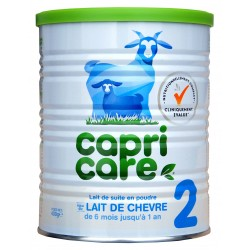 Capricare lait de chèvre 2ème age de 6 à 12 mois boite de 400g