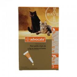 Advocate petits chats de 0 à 4 kg 3 pipettes