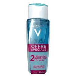 Vichy pureté thermale démaquillant waterproof yeux sensibles lot de 2x150ml