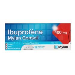 Ibuprofene mylan conseil 400mg 12 comprimés pelliculés