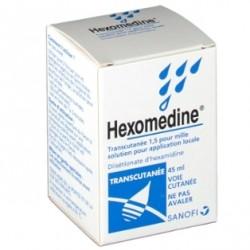 Hexomedine transcutanee 1,5 pour mille 45ml