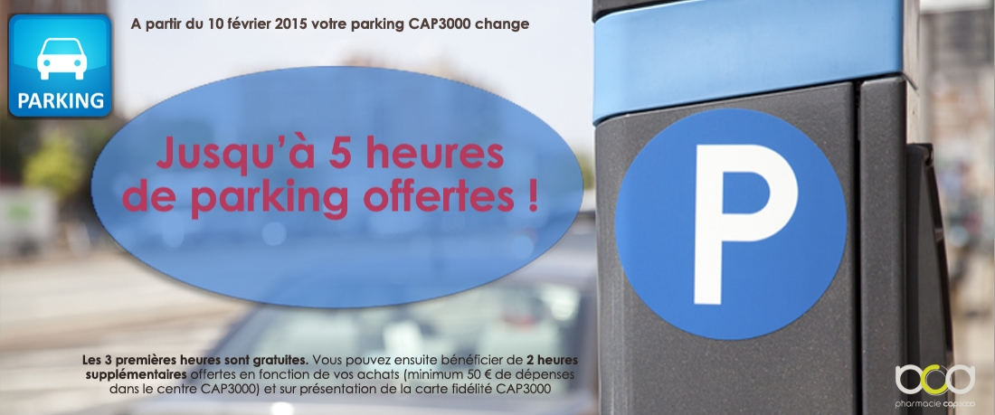 Parking Cap3000 gratuit